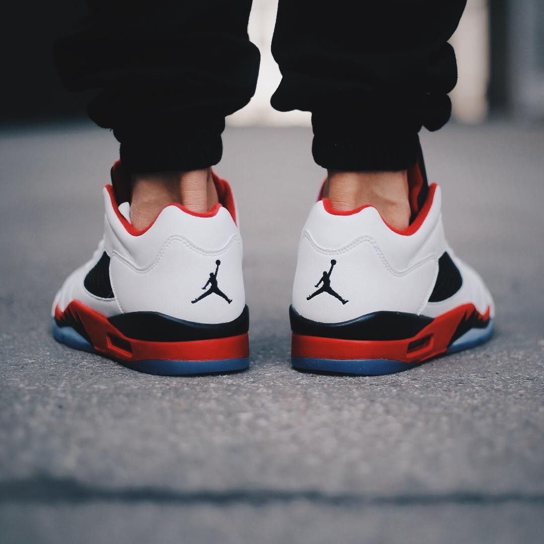 pretty nice b3d0f a8185 Who Picked Up The Air Jordan 5 Low Fire Red This Morning ...