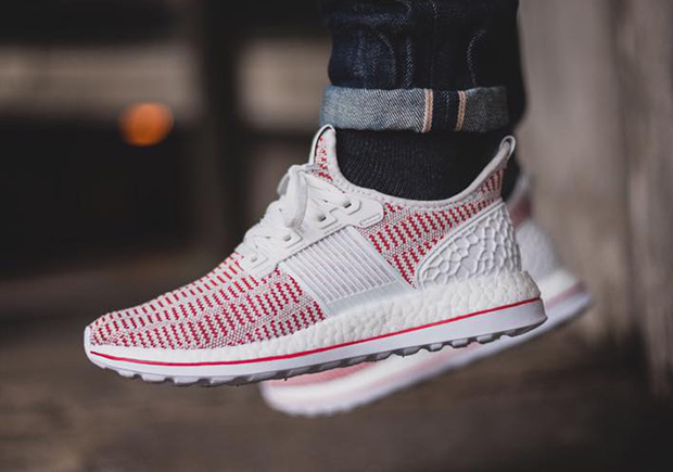 Another Look At The White And Red adidas Pure Boost ZG • KicksOnFire.com
