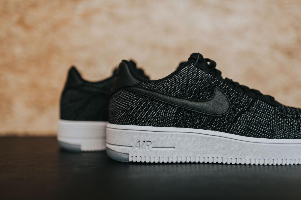 This Nike Air Force 1 Ultra Flyknit Low BlackDark Grey is