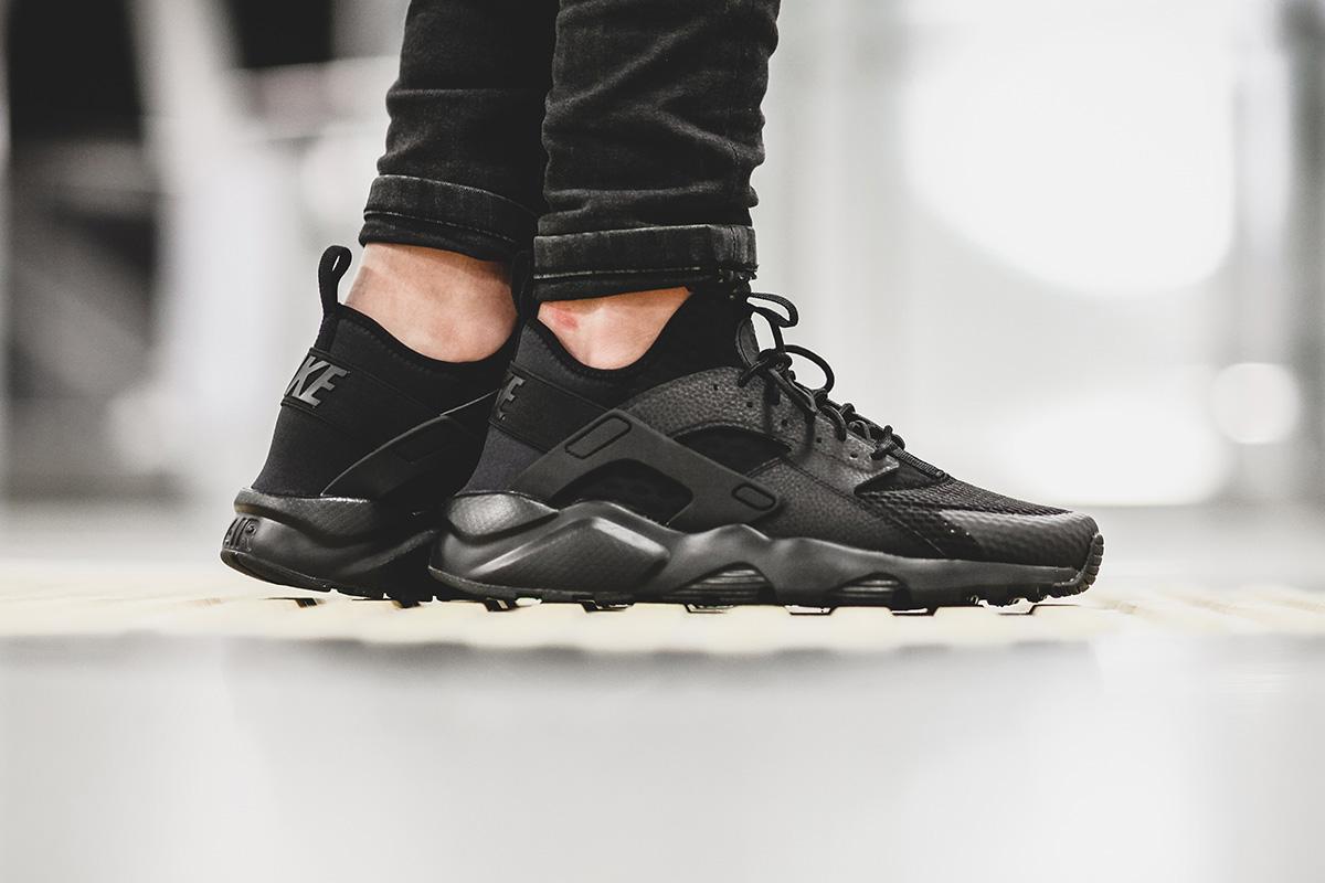 On-Feet Look At The Nike Air Huarache Ultra BR Triple Black ...