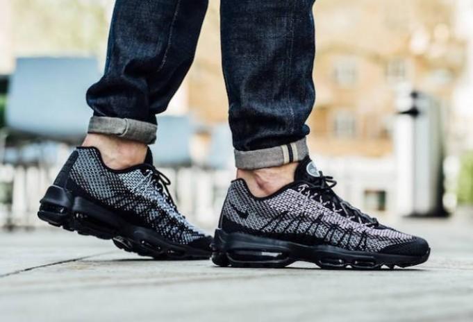 An On Feet Look At The Nike Air Max 95 Ultra Jacquard Black