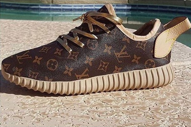 check out 61586 ab39c LV Vibes All-Over This Custom adidas Yeezy 350 Boost ...