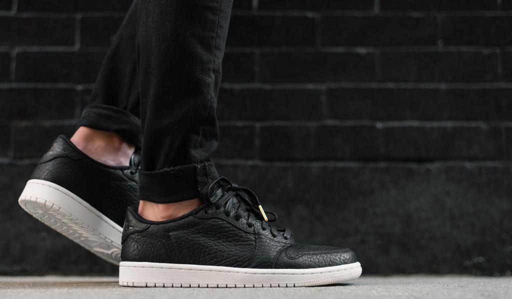 hot sales e43e8 90000 On-Feet Images Of The Air Jordan 1 Low No Swoosh Black