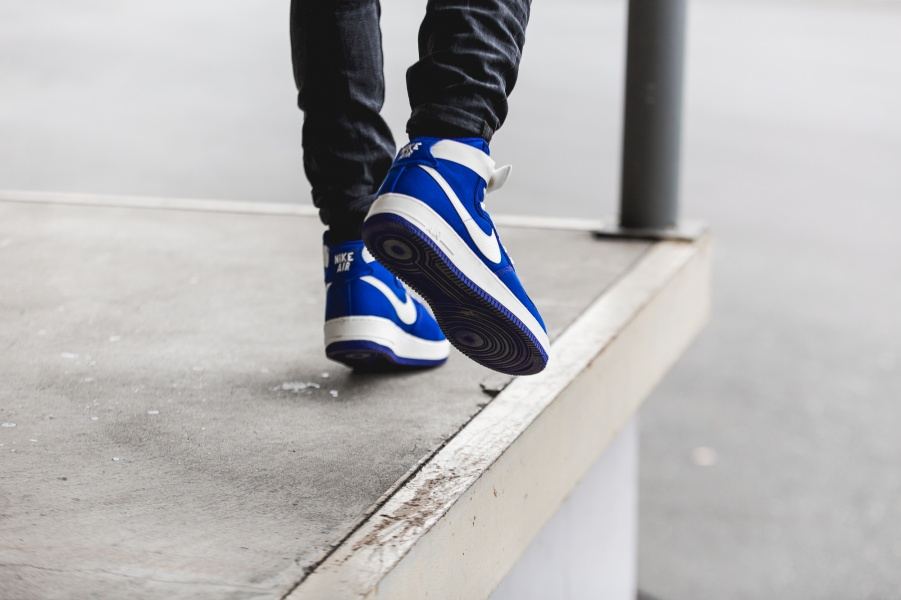 An On Feet Look At The Nike Air Force 1 High OG Blue Concord