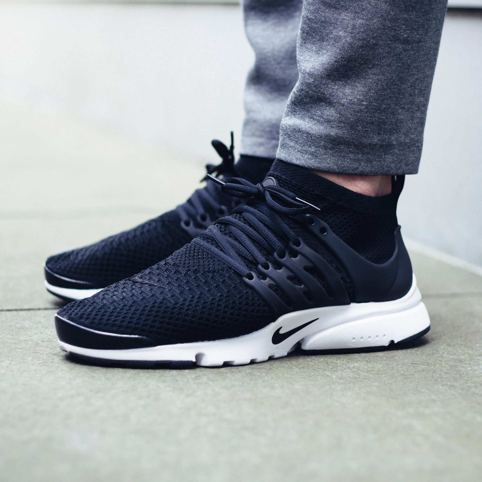 Keep It Stealth With The Nike Air Presto Flyknit Ultra Black ...
