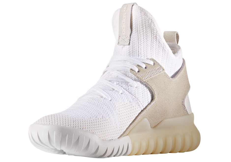 buy online 32f6f 3f250 The adidas Tubular X Primeknit White/Tan Drops In The Fall ...