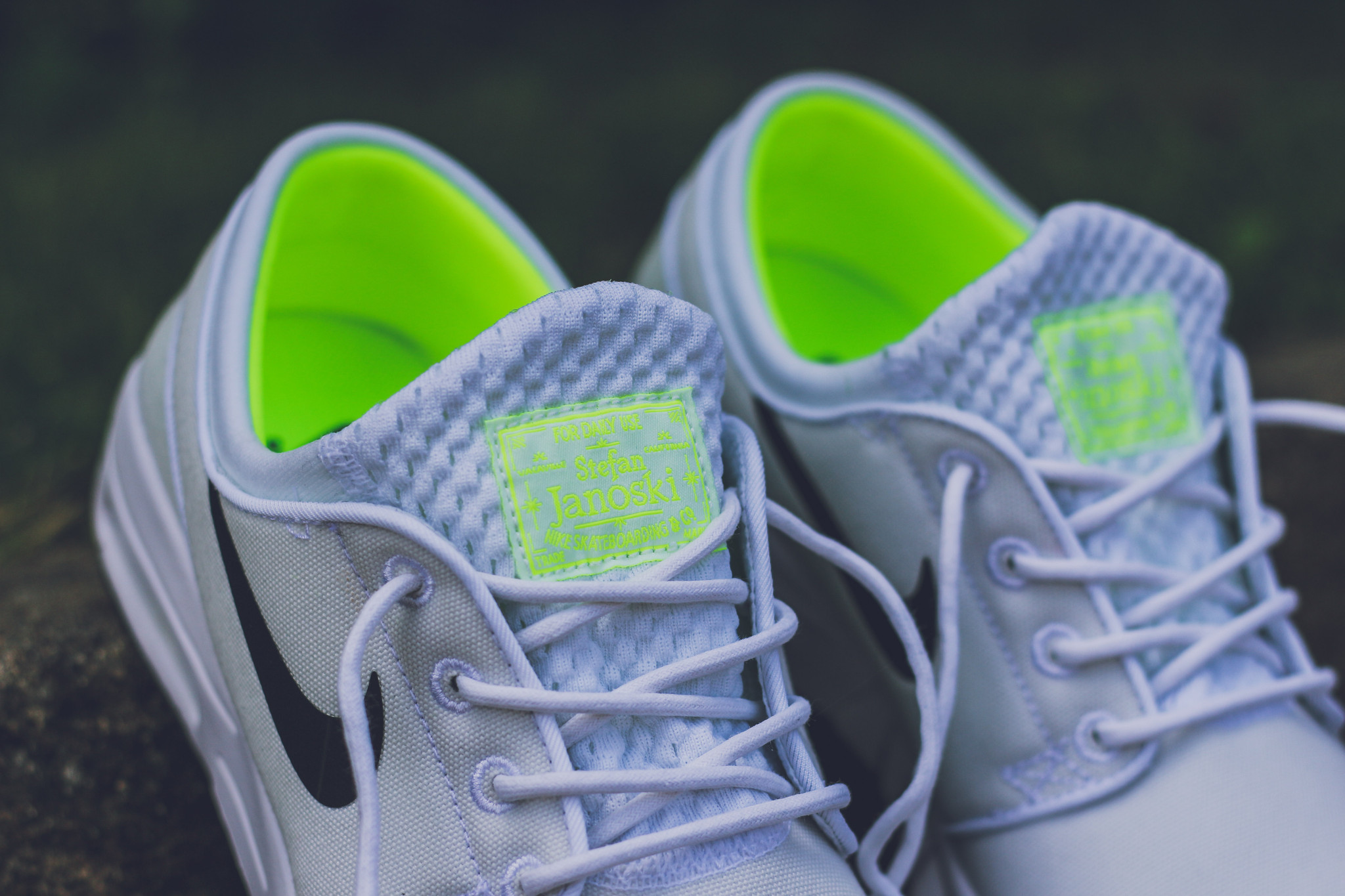 58f6373a708e9 The Nike SB Stefan Janoski has just released in a new White/Black/Volt  colorway that provides the right amount of color for those of you that are  fans of ...