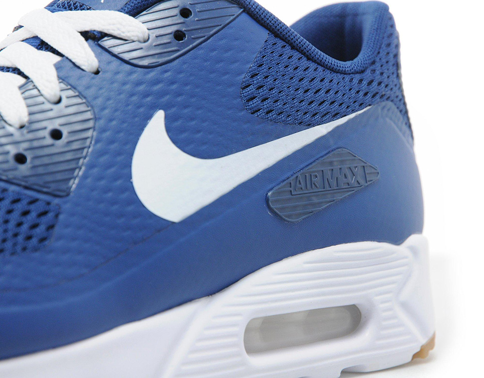 nike air max 90 blauw wit