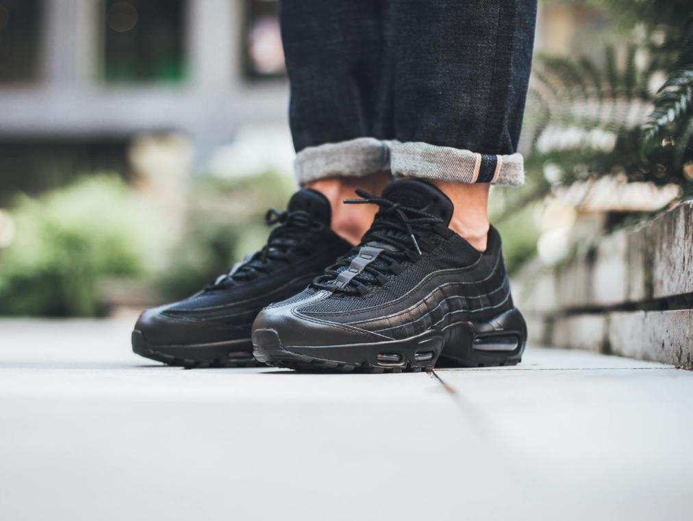 The Stealthy Nike Air Max 95 Essential Triple Black • KicksOnFire.com