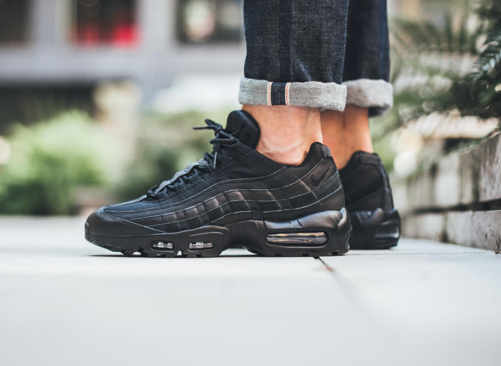 new arrival ce7a3 d3d6a The Stealthy Nike Air Max 95 Essential Triple Black ...