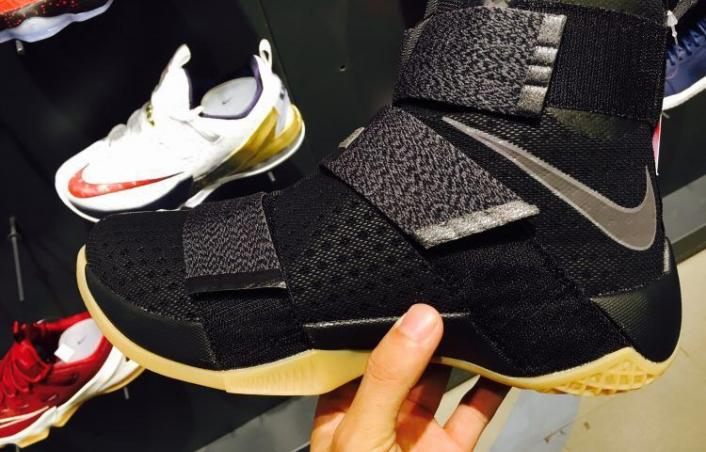huge discount b19ce 2879e Our First Look At The Nike Lebron Zoom Soldier 10 Black Gum ...