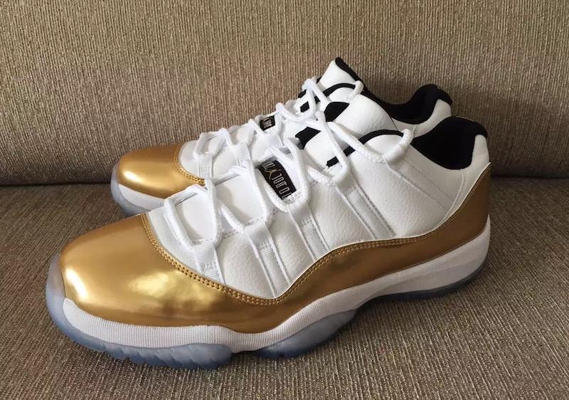 The Air Jordan 11 Low Metallic Gold