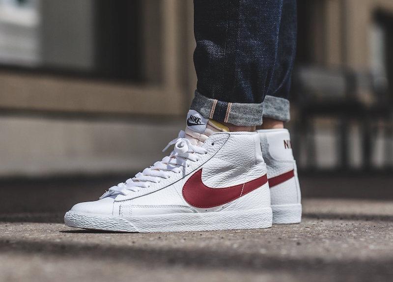 wholesale dealer 0da3b ddbe3 An On-Feet Look At The Nike Blazer Mid OG White / Red ...