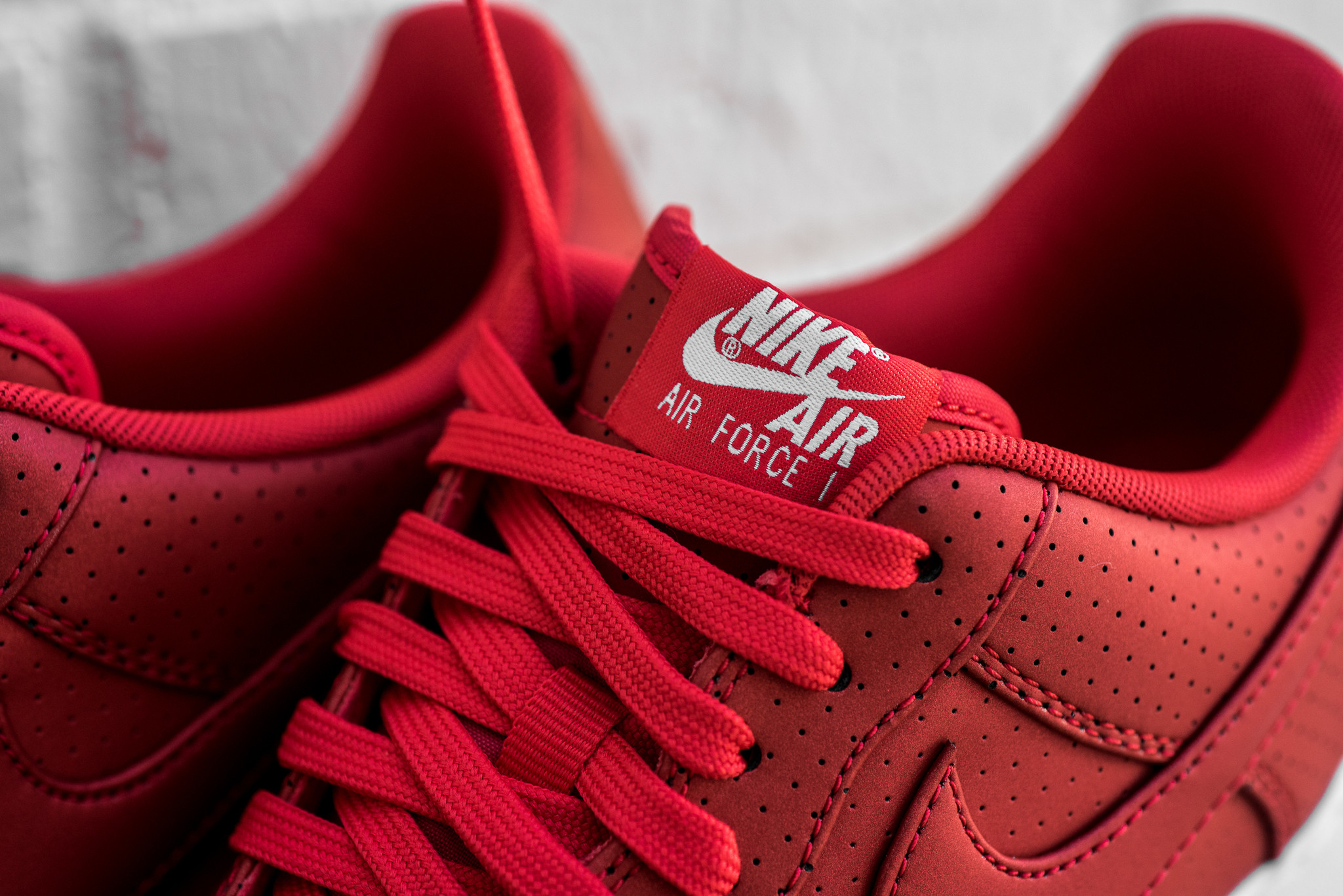 A Perforated Nike Air Force 1 Low Just Released