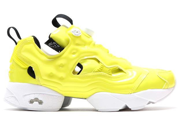 reebok insta pump yellow