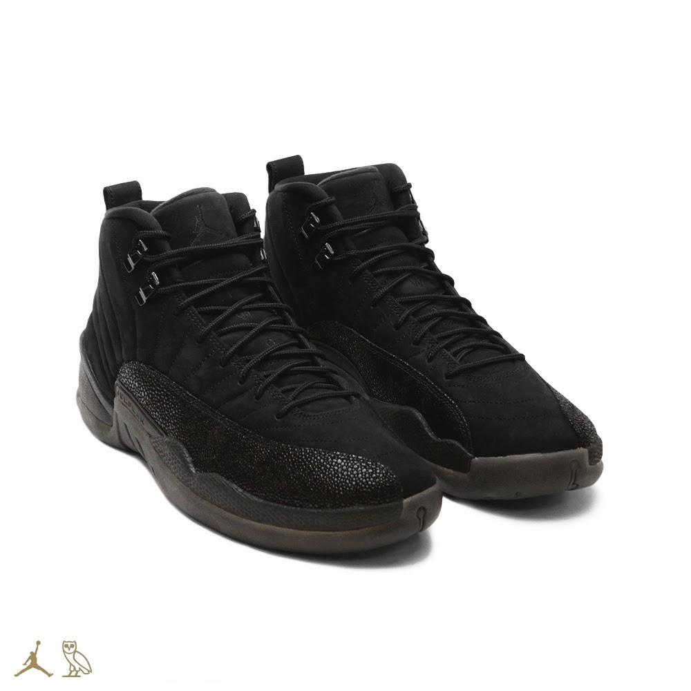 release date: 5c85f 67e10 Air Jordan 12 OVO Black • KicksOnFire.com