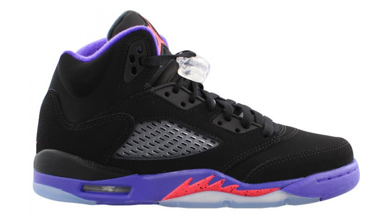 on sale 84426 d4659 Following a wolf grey-colored pair, the next rendition of the Air Jordan 5  GS will be offered in a Toronto Raptors-inspired theme.