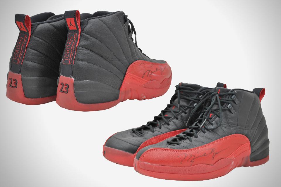 Image result for michael jordan flu game shoe autograph