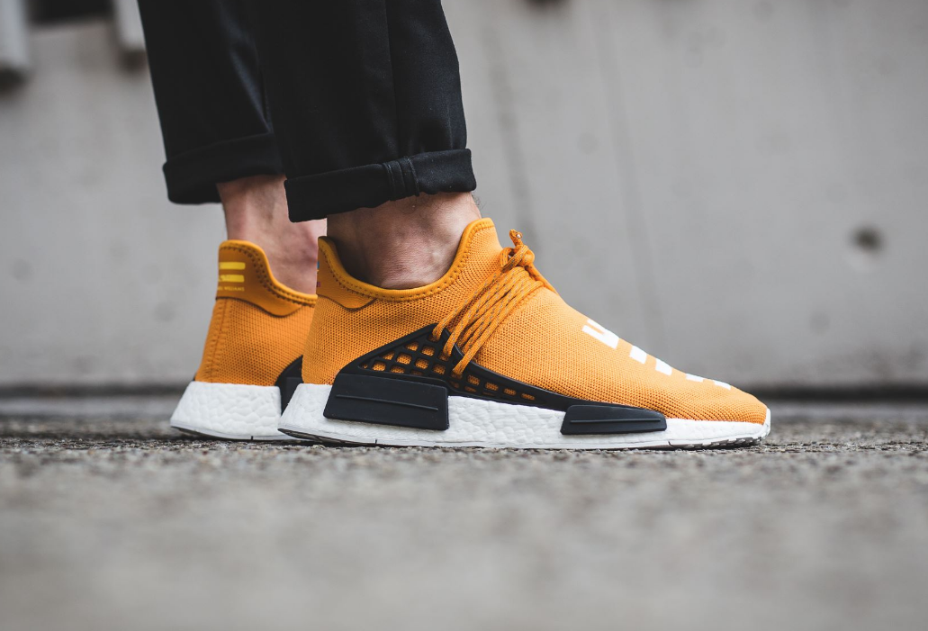 new arrival 951df 97f06 The Pharrell x adidas NMD Human Race Tangerine Drops ...