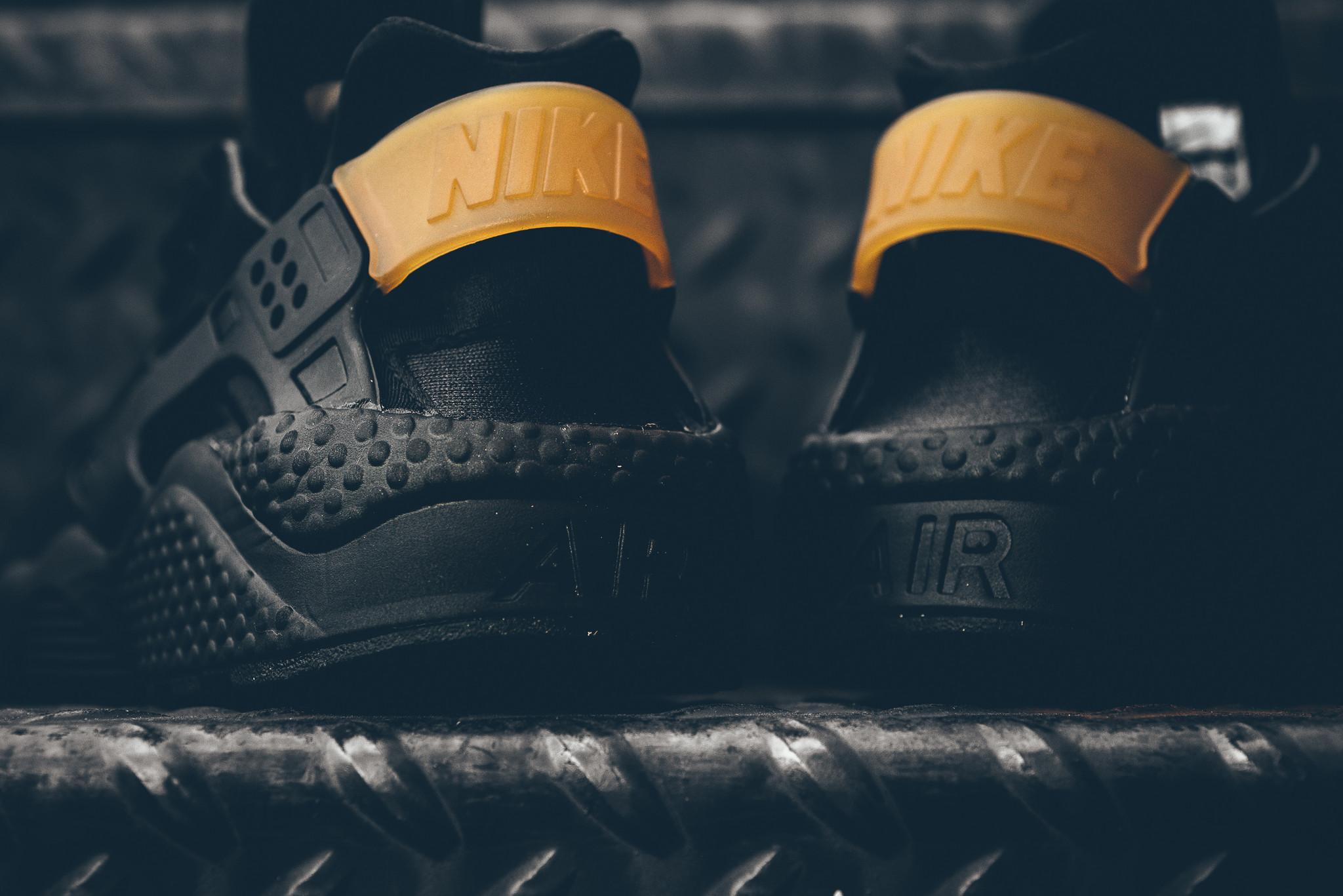 sneakers for cheap b8238 2a6b2 This Black   Metallic Gold Nike Air Huarache Is Available Now •  KicksOnFire.com
