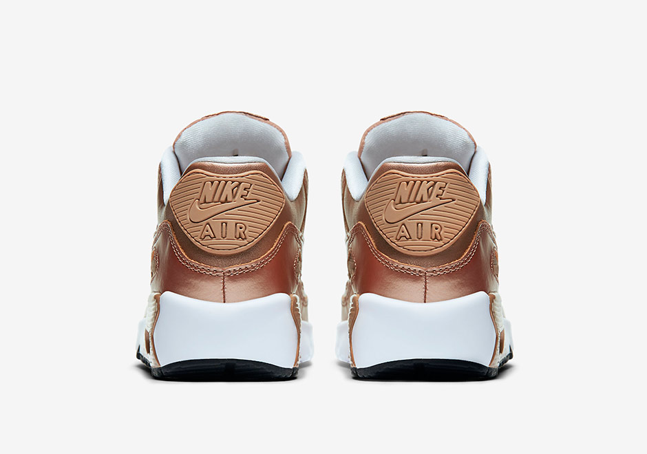 Metallic Bronze Is Placed On The Nike Air Max 90