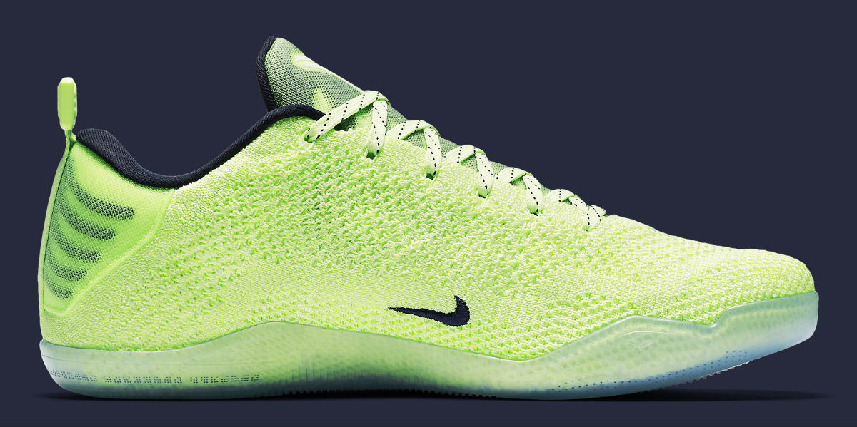 los angeles 9fc4a dc145 Up next for the Nike Kobe 11 Elite 4KB is a colorway that could very well  be the boldest offering of them all. Dubbed the Nike Kobe 11 Elite 4KB  Liquid Lime ...
