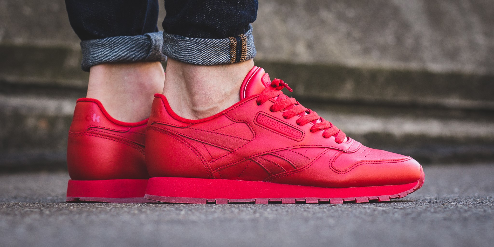 all red reebok classics Online Shopping