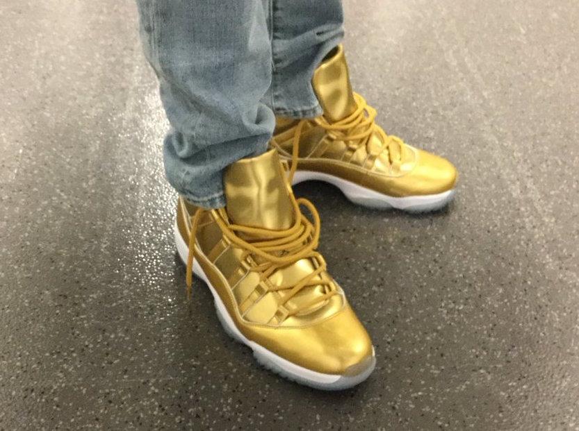 all gold jordans 11