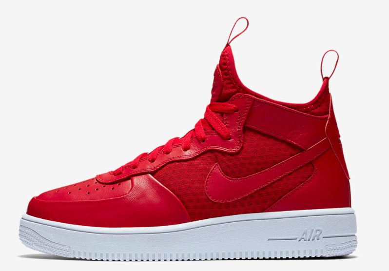 Gym Red Covers The Nike Air Force 1 Mid •