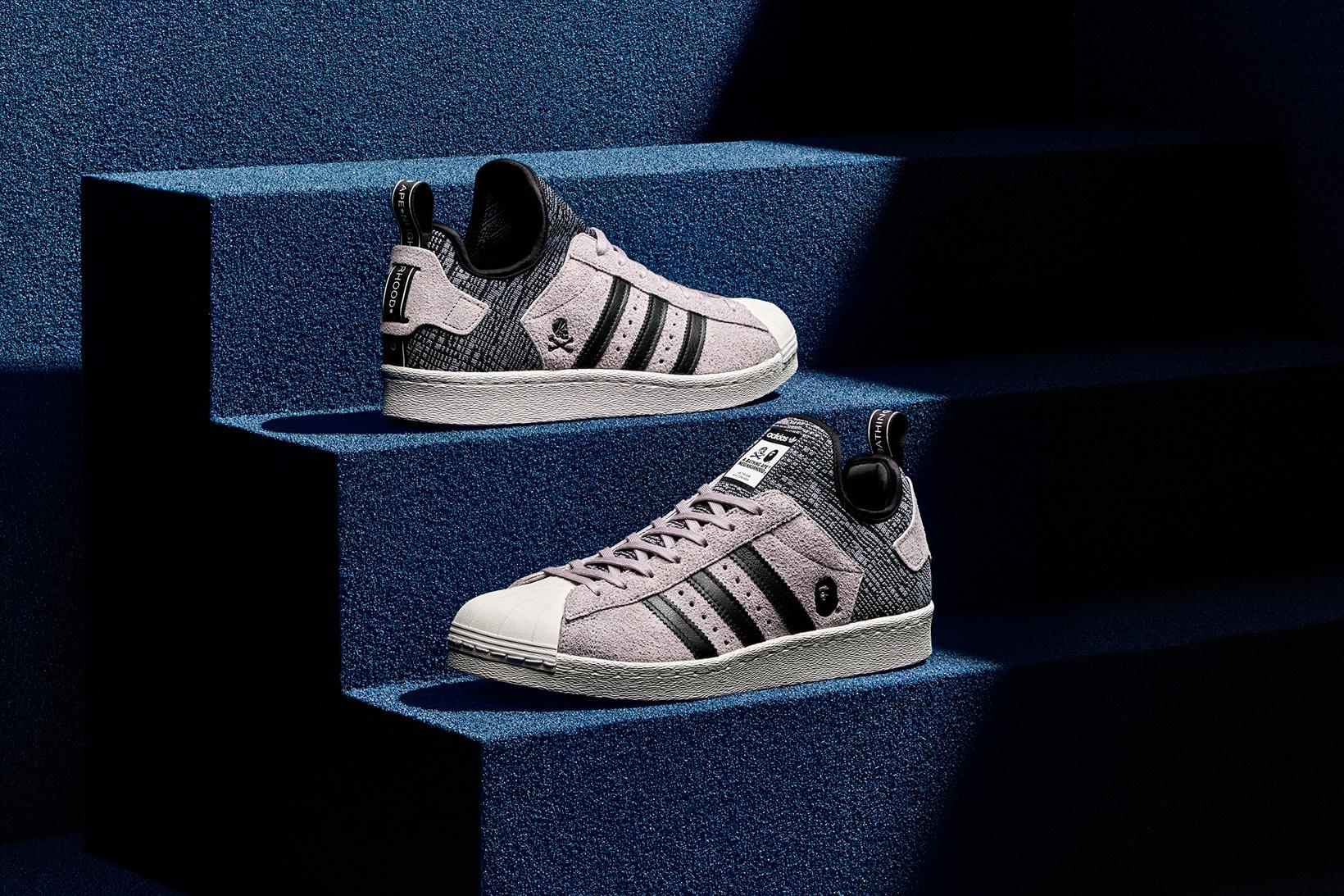 Get Ready For The BAPE x NEIGHBORHOOD x adidas Originals