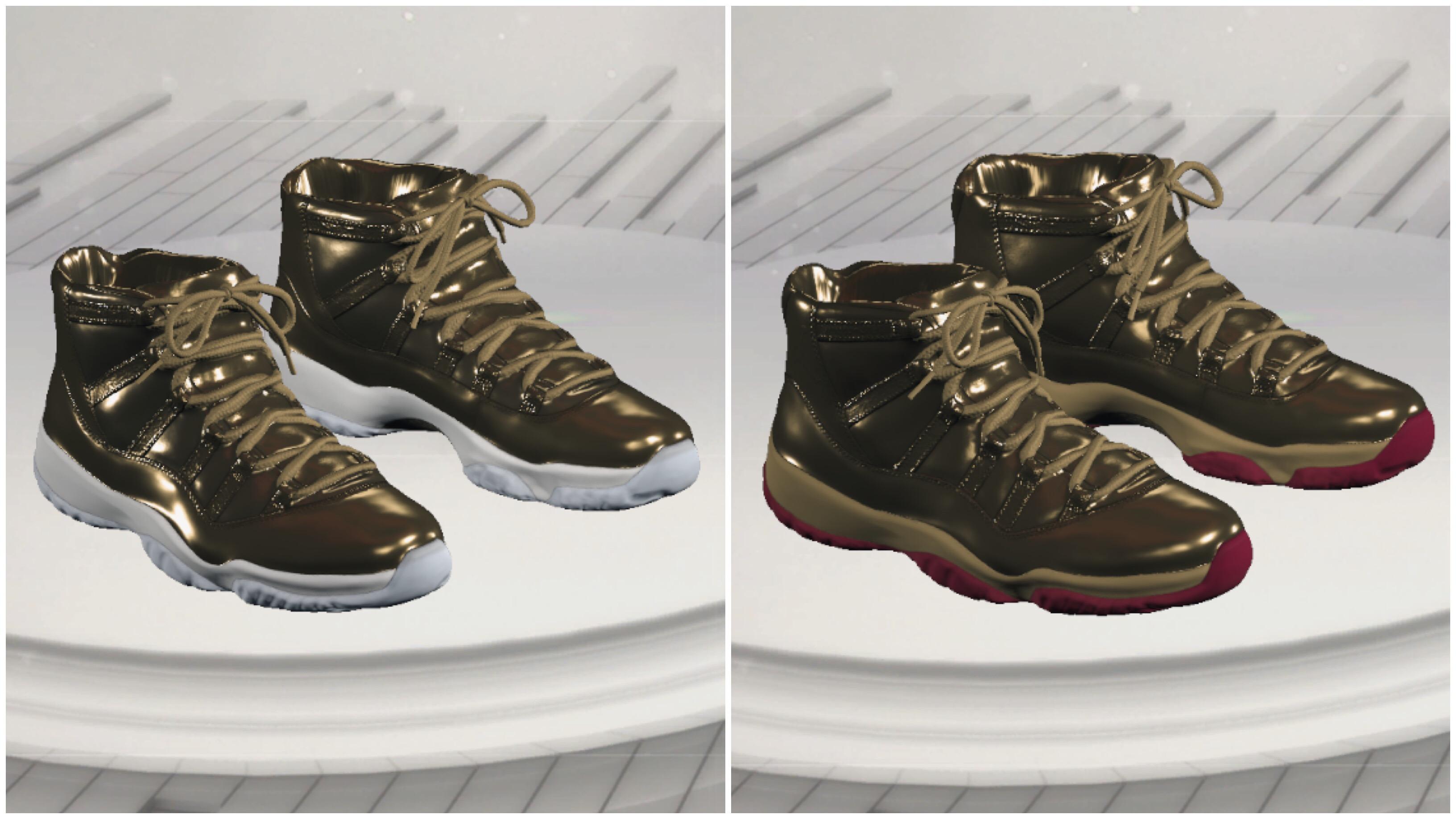 newest edf51 ef848 NBA 2K17 Kicks Air Jordan 11 Gold PE Edition  Kawhi Leonard Vs. Michael  Finley • KicksOnFire.com