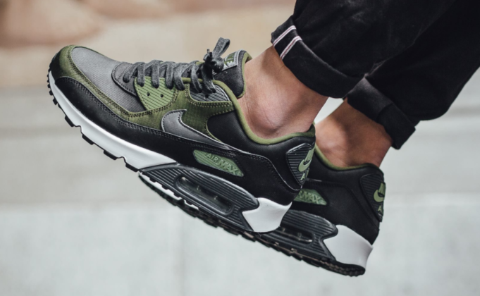 newest a7e5f 24553 Legion Green Accents On The Latest Nike Air Max 90 Premium ...