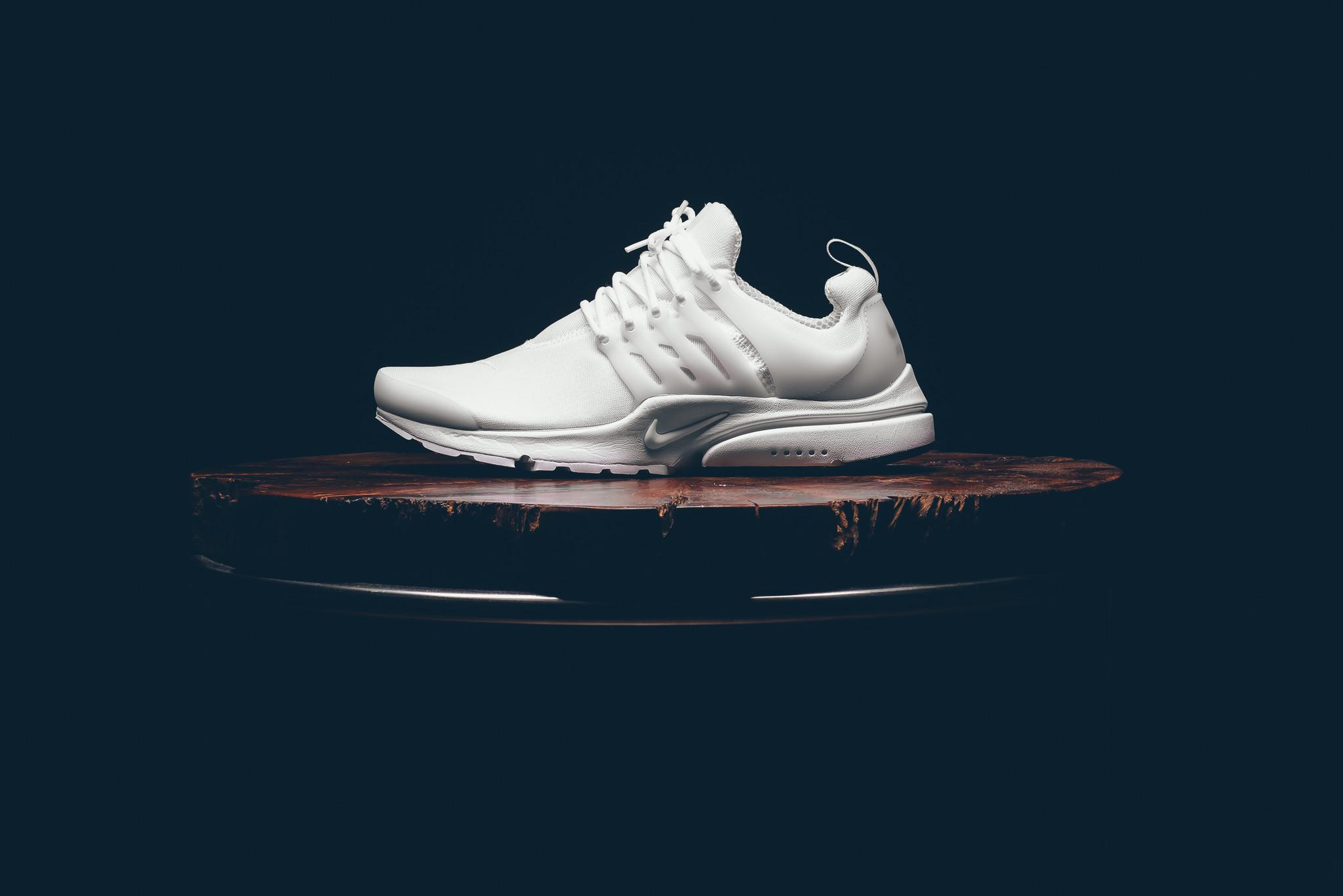 A Nike Air Presto Essential Dressed In All-White • KicksOnFire.com