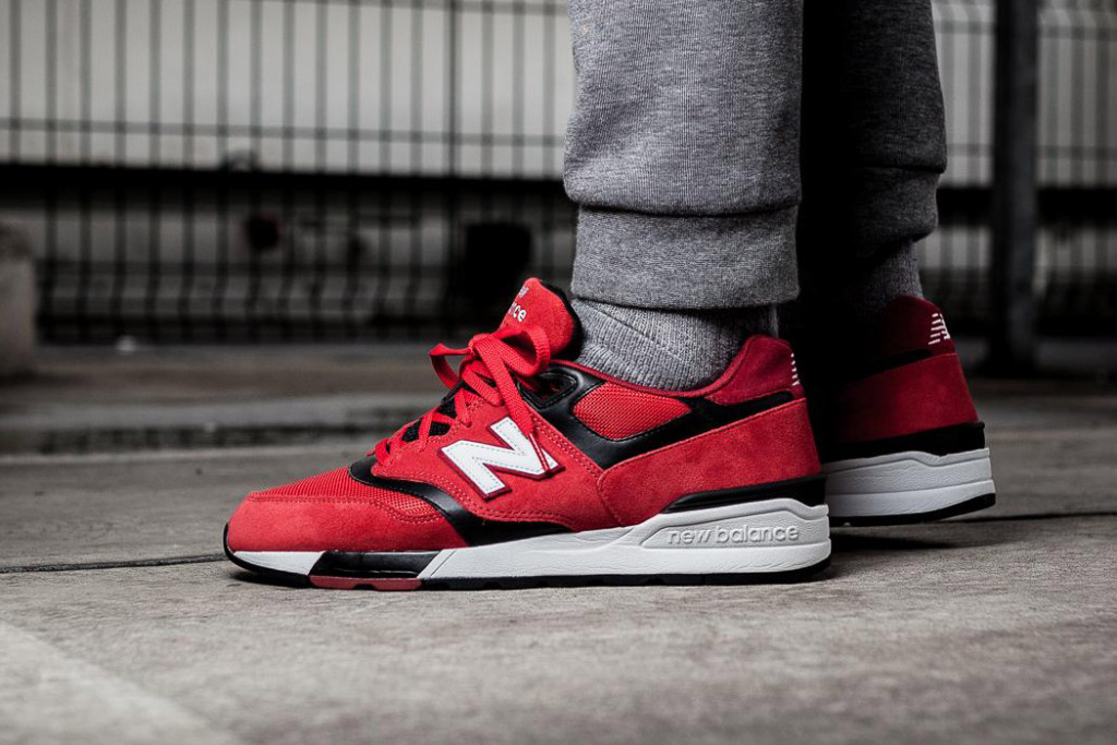 new arrivals 33685 687cd This Red and Black New Balance 597 Is Available Now ...