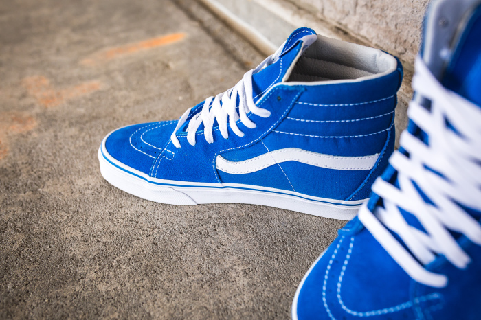 bd366bb1 The Vans Sk8-Hi Is Here In Imperial Blue • KicksOnFire.com