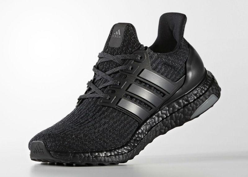 Release Date: adidas Ultra Boost 3.0 Triple Black • KicksOnFire.com