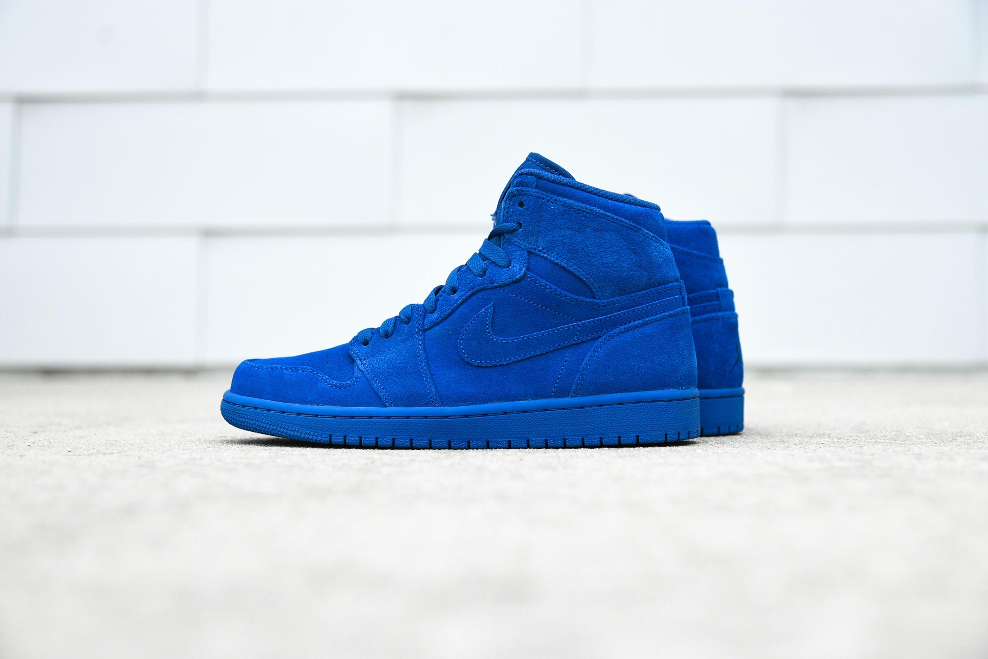 Air Jordan 1 High Blue Suede