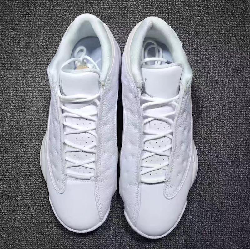 buy popular 27f49 f97dd Air Jordan 13 Low White Metallic Silver • KicksOnFire.com