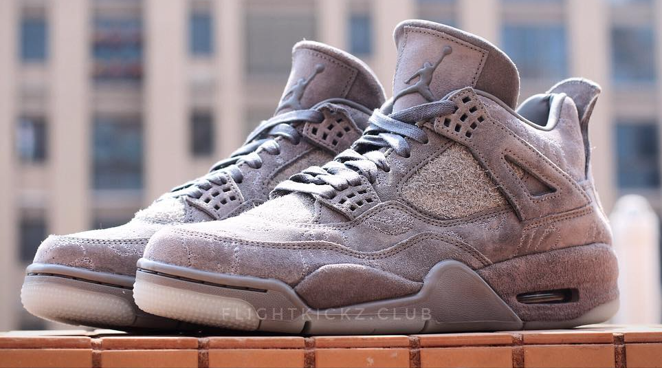 Cool Grey Drapes The KAWS x Air Jordan 4 • KicksOnFire.com