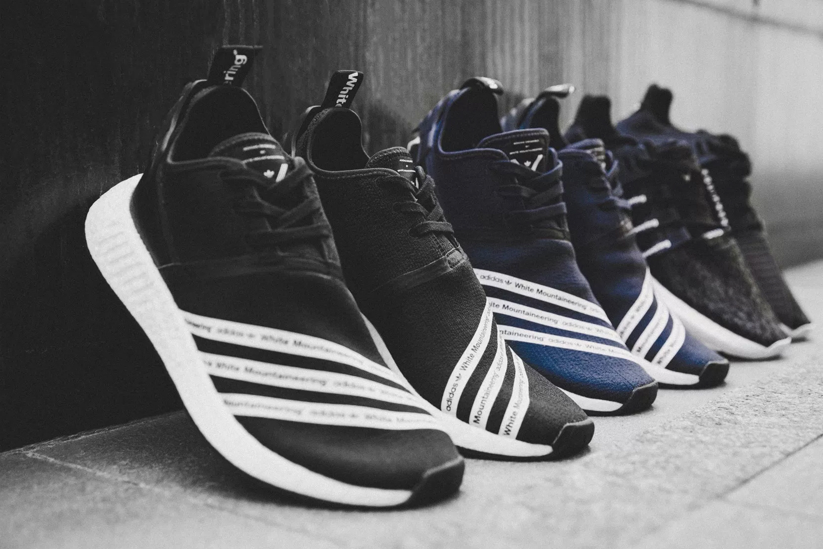 new concept dd1c2 c4a23 Now Available: White Mountaineering x adidas NMD R2 ...