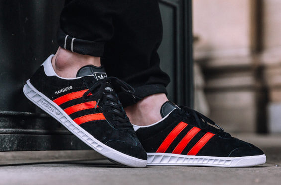The adidas Hamburg Takes On A Classic Black & Red Colorway ...