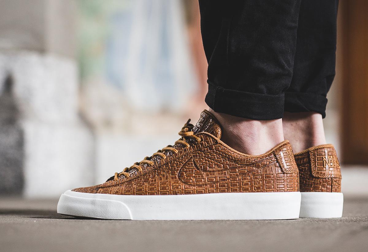 Exotic Detailing On The Nike Blazer Studio Low Desert Ochre ...