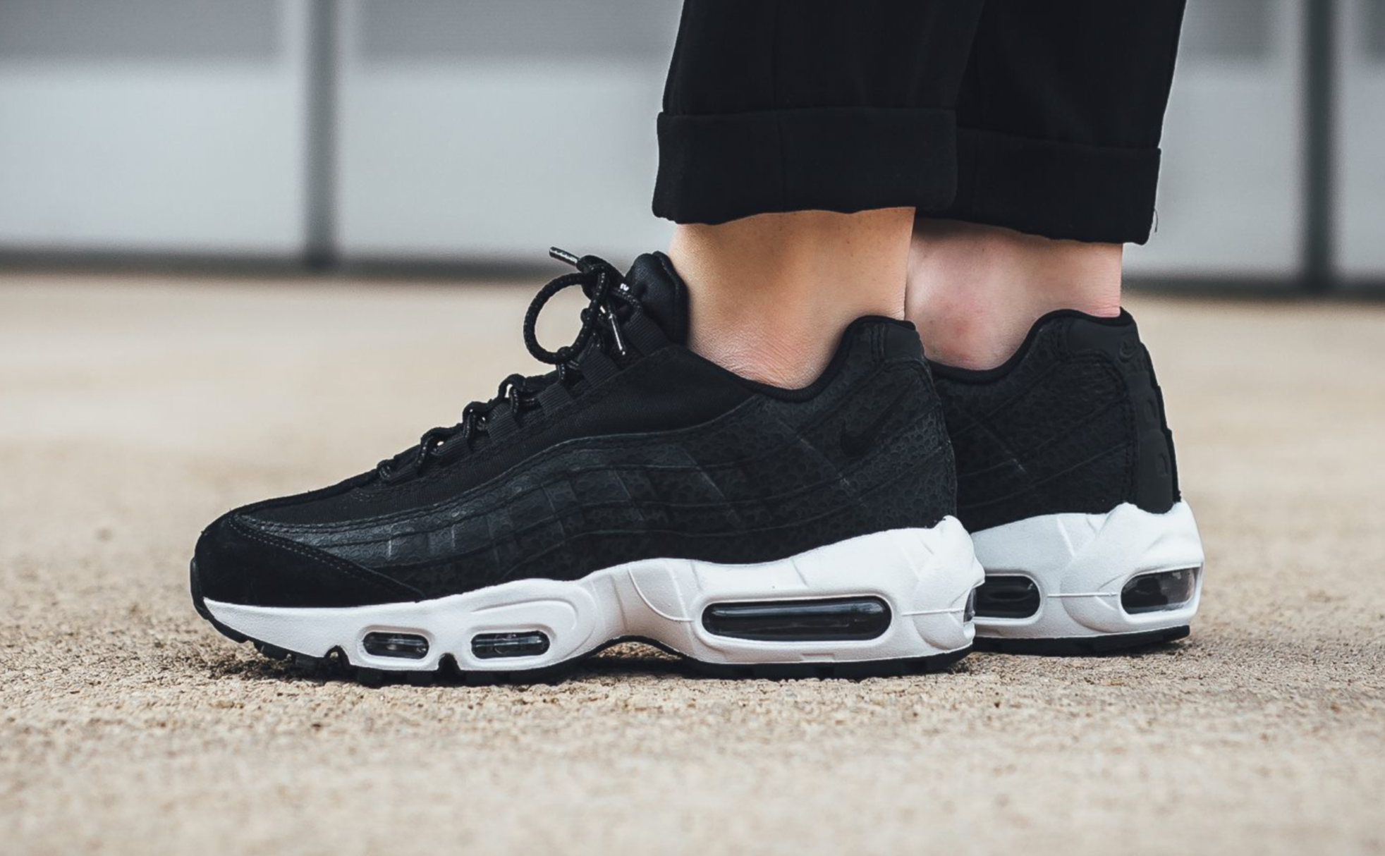 Subtle Safari Detailing On This Stealthy Nike Air Max 95 ...