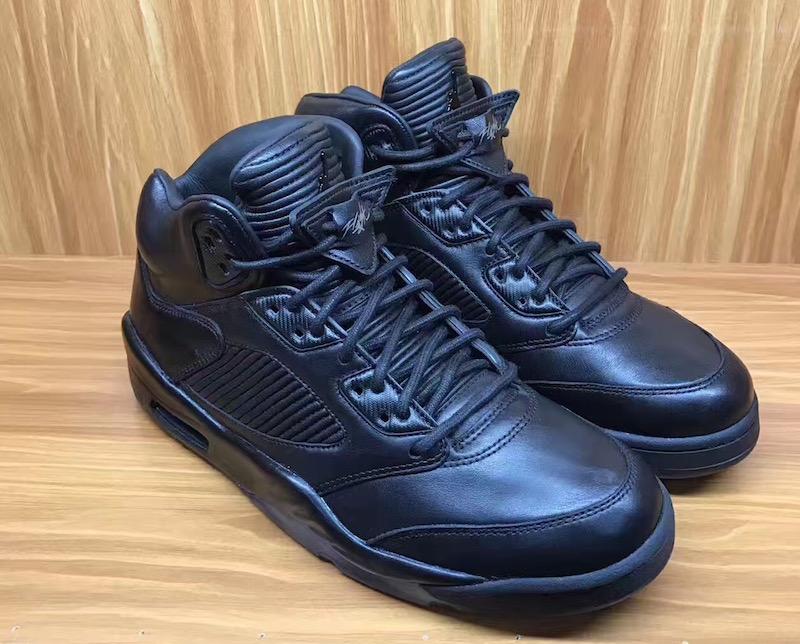 huge discount 8e168 6f5c9 Air Jordan 5 Premium Triple Black • KicksOnFire.com