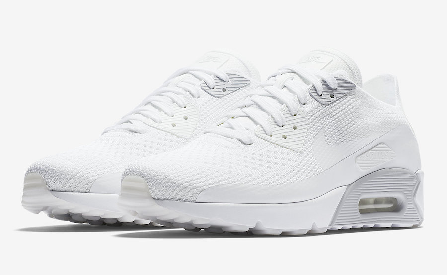 Nike Air Max 90 Ultra 2.0 Flyknit Triple White