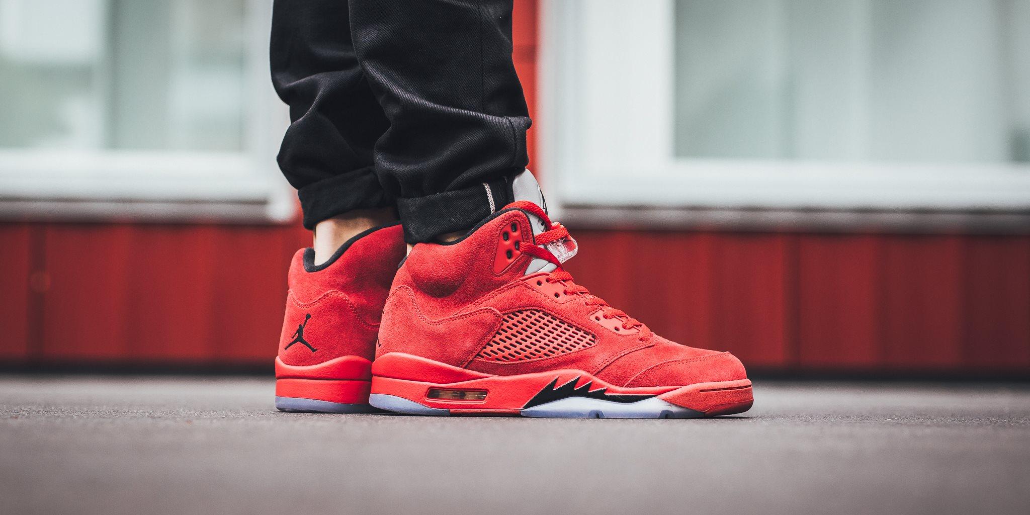 Air Jordan 5 Red Suede
