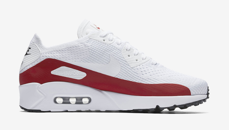 reputable site a08e3 4155f White & Red Lands On The Nike Air Max 90 Ultra 2.0 Flyknit ...