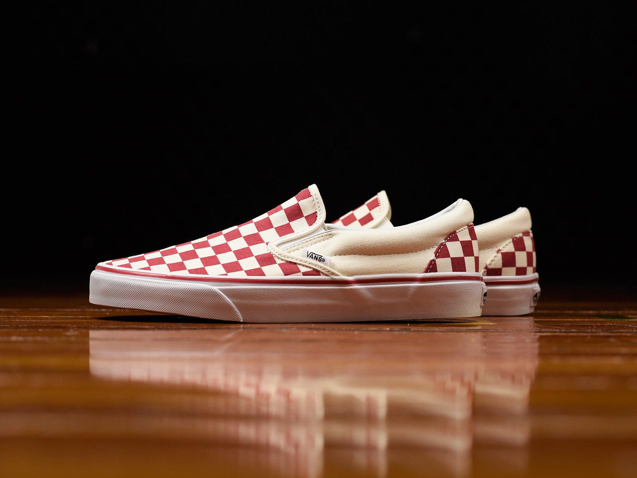 White Checker Motif • KicksOnFire