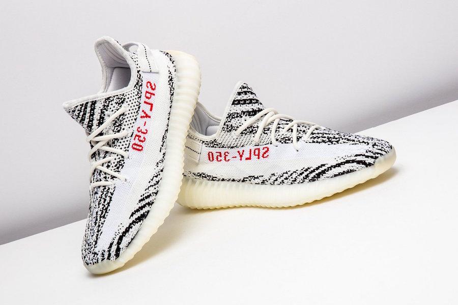 Restocking • Month 350 Yeezy Zebra This V2 Adidas Boost FK3lc1TJ