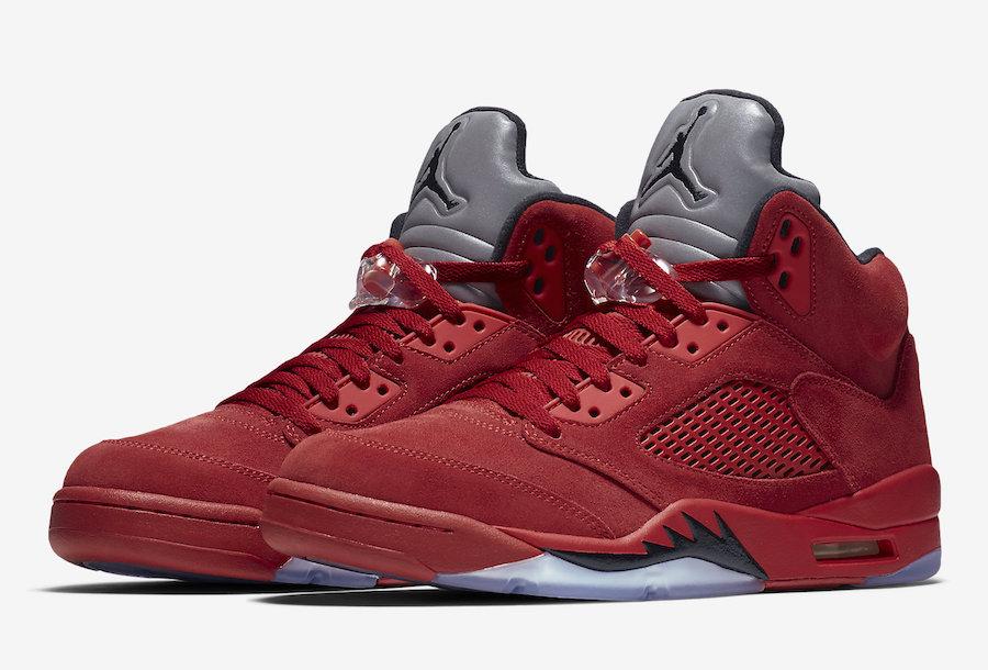 énorme réduction e9eea 538d8 Air Jordan 5 Red Suede (Flight Pack West) • KicksOnFire.com